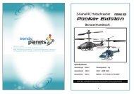 Benutzerhandbuch 3-Kanal RC Hubschrauber - trendy planets
