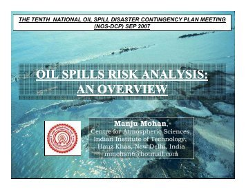Environment Risk Analysis - Indian Coast Guard
