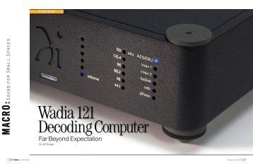 Tone Audio N. 49 Wadia 121 Decoding Computer. Far Beyond ...
