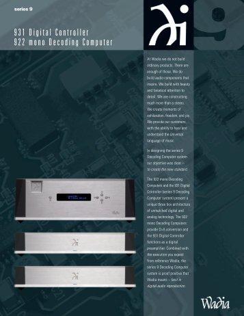 Wadia 931 Brochure