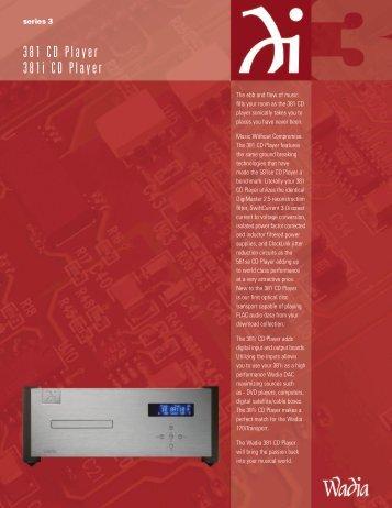 Wadia 381/381i Brochure