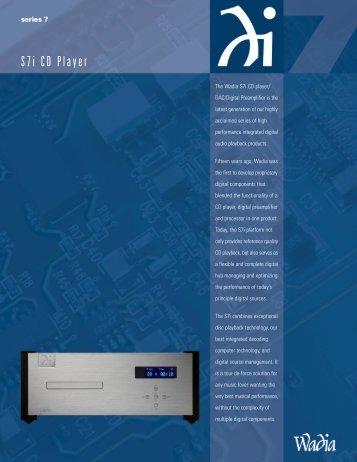 Wadia S7i Brochure