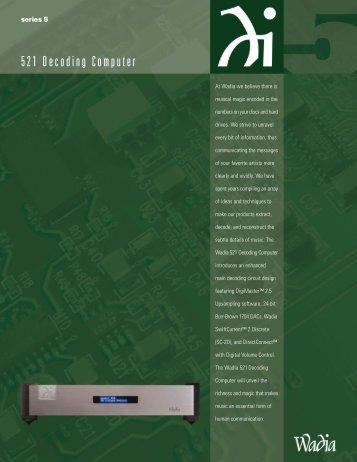 Wadia 521 Brochure