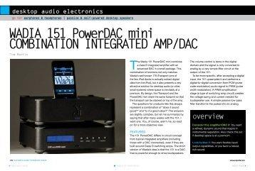 wAdIA 151 PowerdAC mini CoMBINAtIoN INtEgrAtEd AMP/dAC