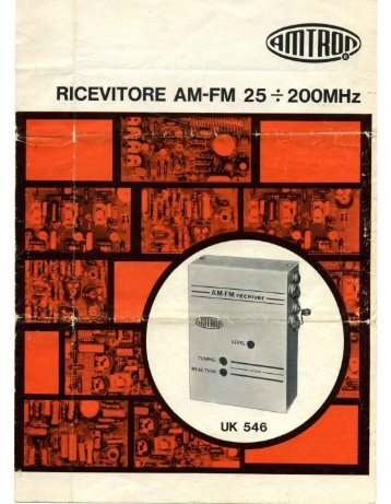 Ricevitore AM-FM 25-200 MHz - Italy