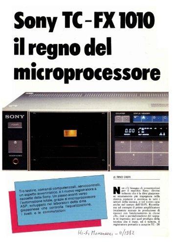 Registratore a cassetta Sony TC-FX1010