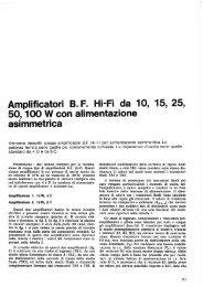 Amplificatori B.F. Hi-Fi da 10, 15, 25, 50, 100W con alimentazione ...