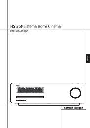HS 350 Sistema Home Cinema - Sito web personale di Quirino Cieri