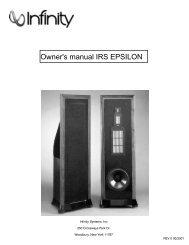 Owner's manual IRS EPSILON