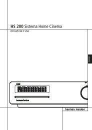 HS 200 Sistema Home Cinema - Sito web personale di Quirino Cieri