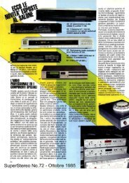 Audio professionale (SuperStereo 72 - 10-1985).