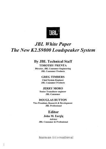 Resultado de imagen de JBL Project K2 S9800