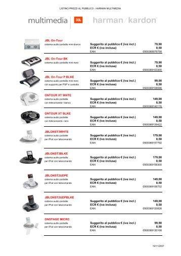 Listino prezzi al pubblico Multimedia Nov 2007-RAE