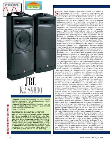 JBL K2 S9800 JBL K2 S9800