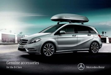 Genuine accessories for the B-Class