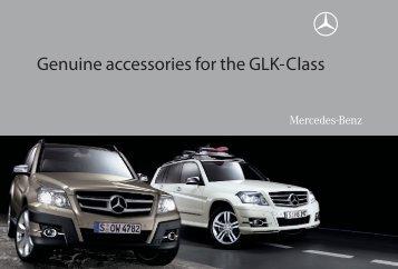 Genuine accessories for the GLK-Class