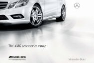 The AMG accessories range
