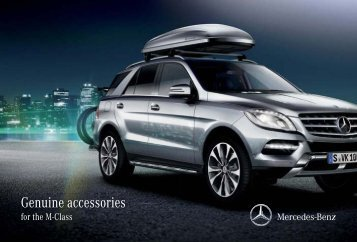 Genuine accessories for the M-Class