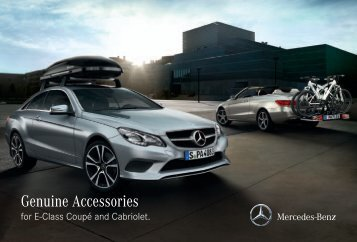 Genuine Accessories for E-Class Coupe and Cabriolet