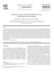 Automatic speech emotion recognition using modulation spectral ...