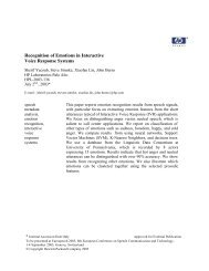 Recognition of Emotions in Interactive Voice Response Systems
