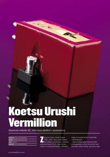 Koetsu Urushi Vermillion - Grobel Audio - Dystrybutor sprzętu Hi-Fi
