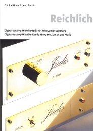 Reichlich - New Audio Frontiers