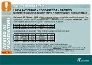 linea avezzano - roccasecca - cassino dall'11 ottobre 2010 - Trenitalia