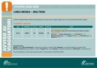linea monza – molteno orario 2008/2009 - Trenitalia