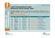 ritardi. DAL 17 AGOSTO AL 5 SETTEMBRE 2012 - Trenitalia