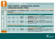 dal 12 settembre 2010 linea trento – bassano del grappa ... - Trenitalia