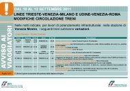 dal 10 al 12 settembre 2011 linee trieste-venezia-milano ... - Trenitalia