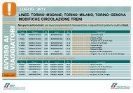MODIFICHE CIRCOLAZIONE TRENI LUGLIO 2012 - Trenitalia