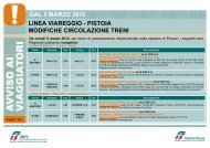 dal 5 marzo 2012 linea viareggio - pistoia modifiche ... - Trenitalia