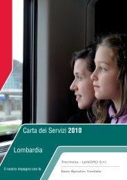 Lombardia Carta dei Servizi 2010 Lombardia - Trenitalia
