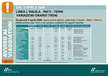 L'Aquila Terni - Trenitalia
