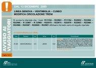 DAL 13 DICEMBRE 2009 - Trenitalia