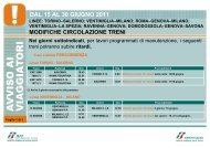 ritardi. DAL 15 AL 30 GIUGNO 2011 - Trenitalia