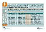 MODIFICHE CIRCOLAZIONE TRENI FEBBRAIO 2013 - Trenitalia