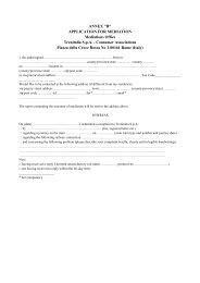 Conciliation application form - Trenitalia