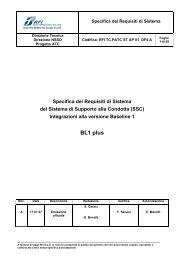 Integrazioni alla versione Baseline 1 BL1 plus - Trenitalia