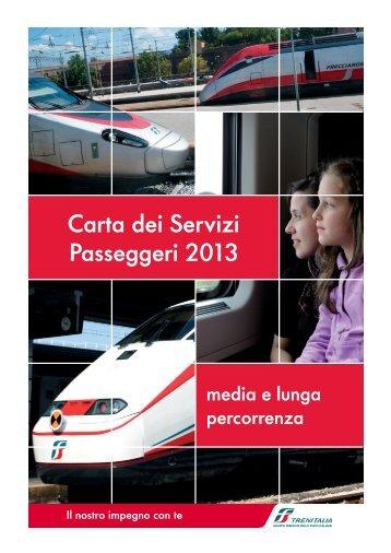 La Carta dei Servizi Passeggeri Media lunga percorrenza - Trenitalia