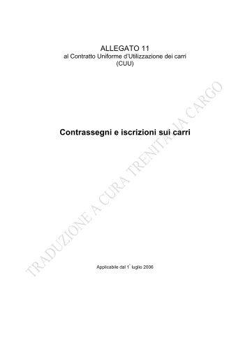 Contrassegni e iscrizioni sui carri - Trenitalia