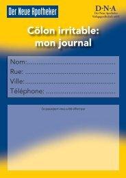 Côlon irritable: mon journal Der Neue Apotheker - Trenka