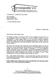 Brief an Papst Benedikt XVI. - Trennungsväter eV