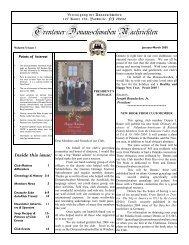 January 2005 - Trenton Donauschwaben Association