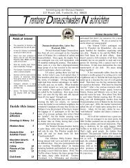 October 2004 - Trenton Donauschwaben Association