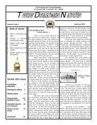 April 2005 - Trenton Donauschwaben Association