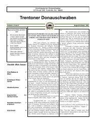 August, 2001 - Trenton Donauschwaben Association