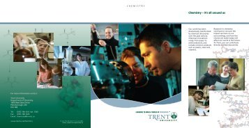 Chemistry – it's all around us - Trent University
